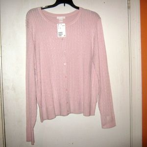 H&M Cable Knit Old Rose Cardigan Sweater